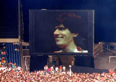 Wembley Stadium 1986: 'Hello Mom!'