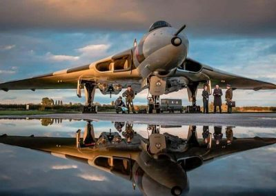 A photo session at Wellesbourne for 'our' Avro Vulcan, XM655.